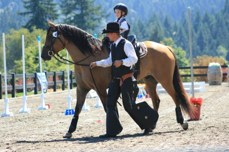 Working Equitation Lead Line - Father and son.